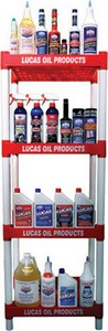 Lucas 4 Tier Lucas Oil Display Rack