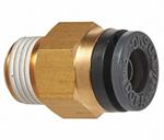 Straight Male Connector 1/4^ Tube X 1/8^ NPT (2)